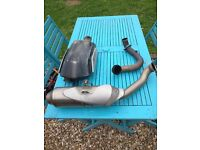 KTM Duke 690 complete stock exhaust system (can be sold in parts)