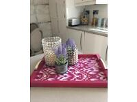CHIC PINK TRAY /kitchen/bedroom/lounge
