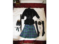 Complete Highland Kilt Outfit for sale due to expanding body!