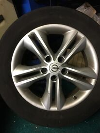 17 inch Nissan alloy plus tyre