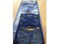 3 pairs of diesel jeans