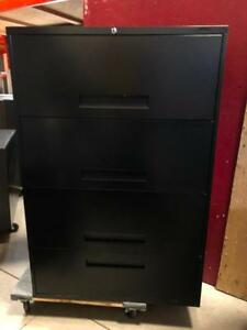 Global 4 Drawer Lateral File - Top 3 Drawers are Receding - $279