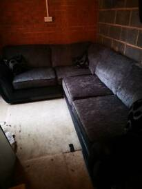 DFS corner sofa Grey/Black