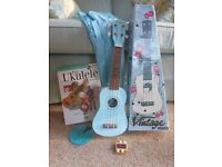 Ukelele, cases, book and CD and tuning pipes