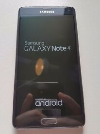 Samsung note 4 black unlocked