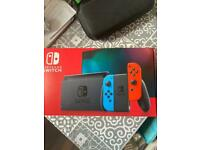 Nintendo Switch V2 - Improved Battery - Like New. X2 games, 128GB Memory Card, Carry Case