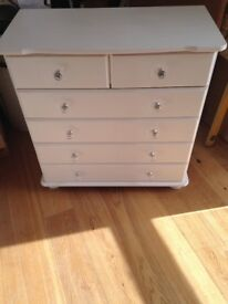 Newly painted drawers