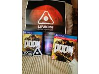 DOOM (UAC PACK, GAME, POSTER, HANDBOOK, FABRIC PATCHES)