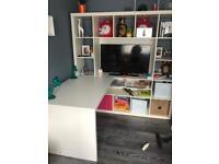 Ikea kallax tv unit and desk