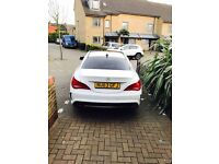White Mercedes Benz Cla with all the extras and addons! Beautiful car!