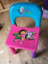 Toddler dora the explorer chair