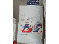 Cot bed bedding and duvet