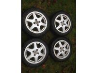 VW Polo BBS Alloy wheels and tyres Genuine VW 195 50 15