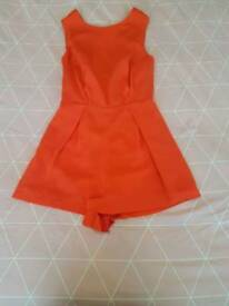 Size 8 orange with black lace back for sale