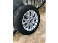 BMW X5 Style 177 Alloy 18 inch wheels (four) with Run Flat Continental winter tyres