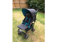 SILVER CROSS POP - BLACK / BLUE COLOUR - BEARS DESIGN - STROLLER BUGGY