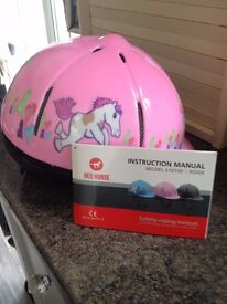 Pink Riding Hat !!!!Brand new !!!! size 54cm (approx age 3-6 years)