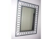 """Wrought iron mirror 32"""" x 24"""""""