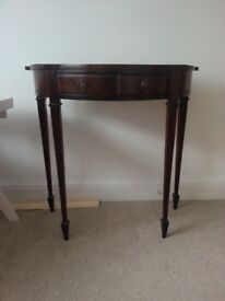 Dark wooden console table
