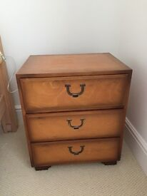 TWO BEDSIDE CHESTS AND ONE 2 + 2 CHEST BY LANDSDOWN OF BATH IN WARM ELM SUPERB AND HIGH QUALITY±!!±