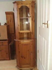 Antique Pine Corner Unit, TV Unit, Nest of 3 Tables and Office Desk: (Not Vintage)