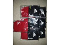 7 pairs of Junior Adidas red football socks