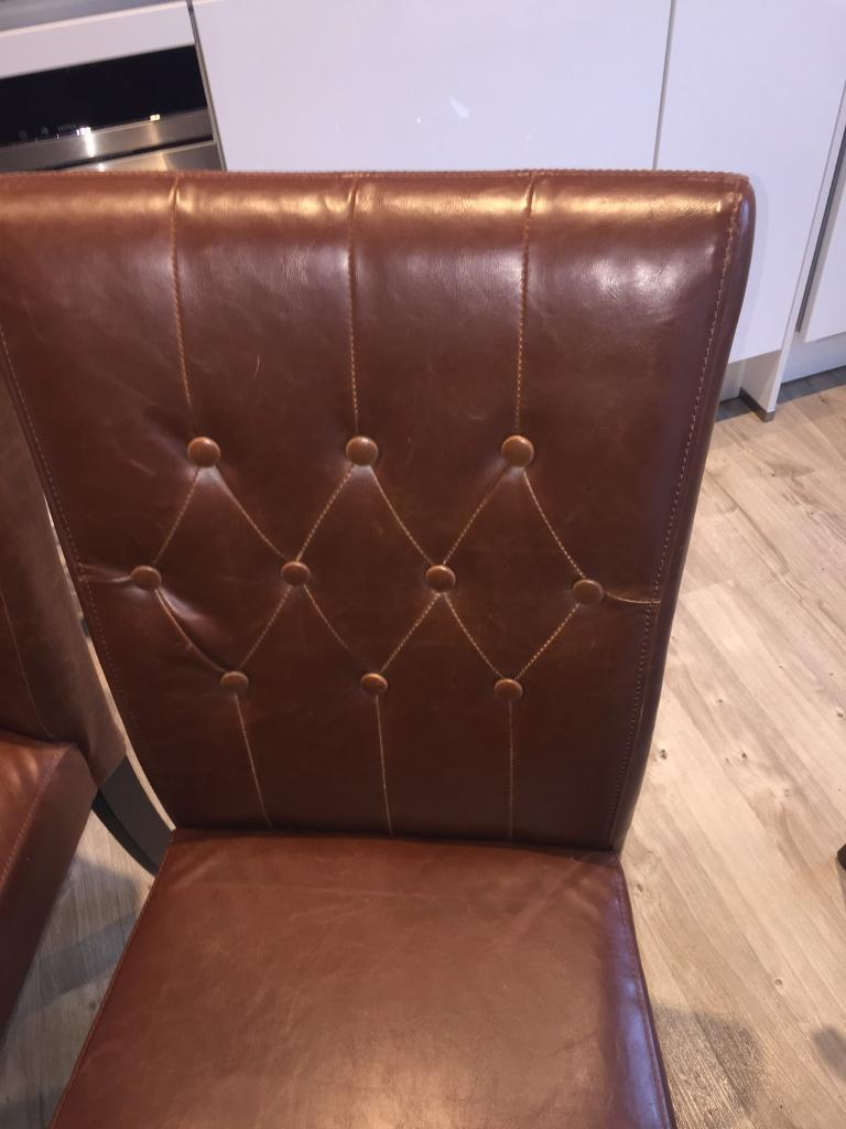 Pu leather dining chairs from Made in Hackney London  : 86 from www.gumtree.com size 768 x 1024 jpeg 60kB