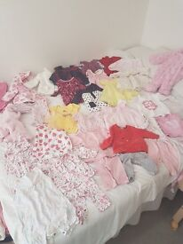 Baby girl clothes, all newborn and 0-3.