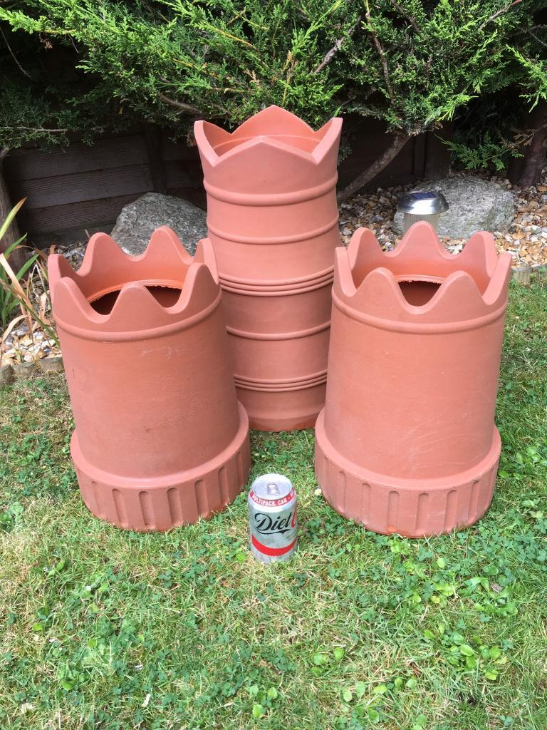 Plastic Chimney Pots x 3in Bournemouth, DorsetGumtree - Plastic Chimney Pots x 3, ideal as a starter before sourcing some vintage ones and definitely ideal if you want something light weight to move around your garden. £10.00 the set.Can of coke for size guide only.Collection from Bearcross or I am happy...