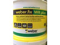 Weber fix white large 10 Litre tubs tile adhesive