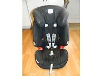Britax Evolva 123 Car seat 9-36kg [1-12 years] adjusting head rest in Thunder Black