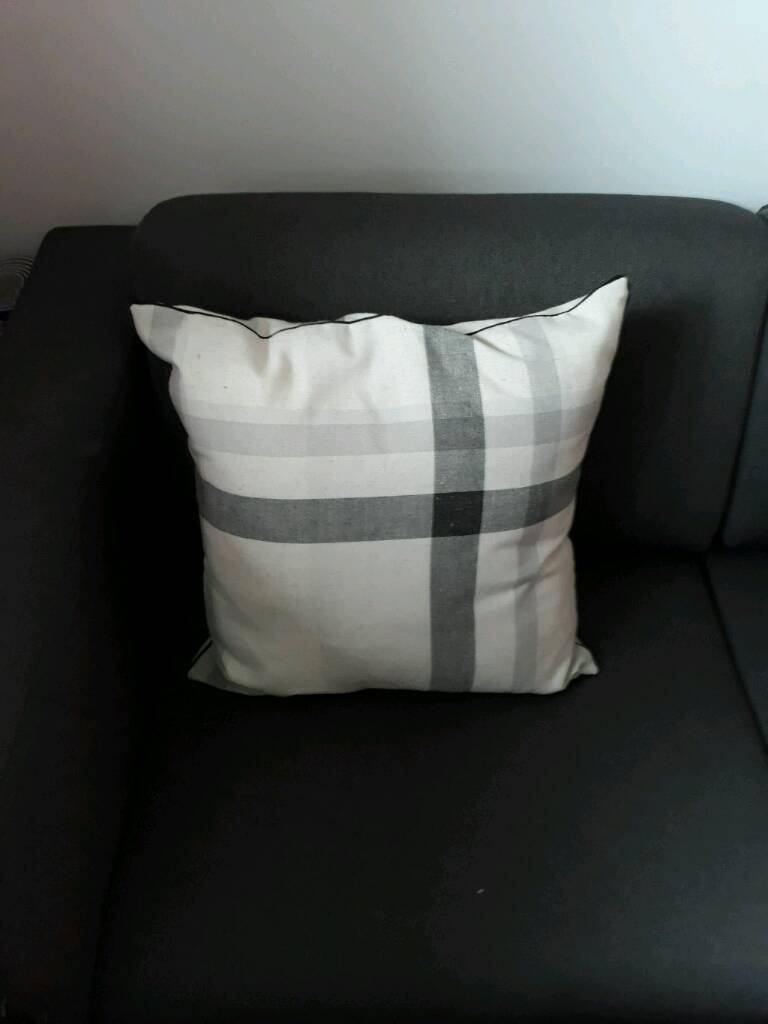 NEXT grey and white large cushion