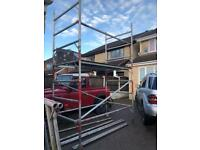 Double aluminium scaffold tower 6.0 metre + single