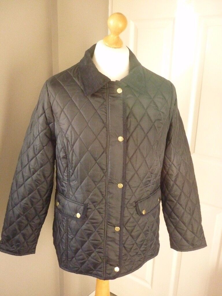 ladies quilted jacket,new with tags on,olive or navy,size 20 and 22.