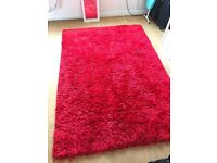 Red supersoft shaggy rug for sale Urgent!