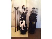 Job Lot Set of golf clubs and irons with a bag