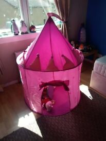 Girls pink play castle