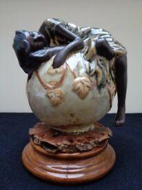 Beautiful Studio Pottery Figurine Enchanting Sleeping Forest Fairy