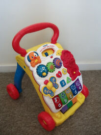 VTECH FIRST STEPS BABY WALKER ACTIVITY CENTRE MUSICAL NOT CAR SEAT