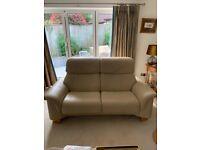 Cream Leather Stressless Sofa