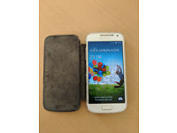 Samsung Galaxy S4 mini with cover + USB charging cable