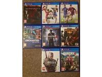 PS4 Games - Excellent Condition.