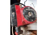 grunfos pump & boiler
