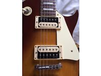 Vintage brand V100 Les Paul electric guitar with upgrades