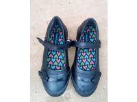 NEW Hush Puppies Twirling Girls Black School Shoes