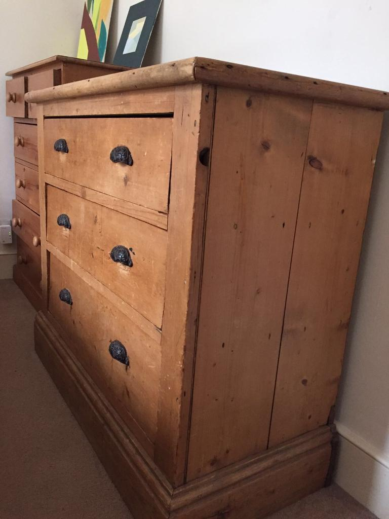 Old wooden chest of drawers