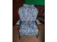 beautiful antique armchair with small pelot. excellent condition.