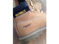 "Men's DeWalt 6"" steel toe Chieftan safety boot in Nubuck size 11"