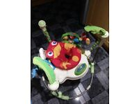 Fisher-Price rainforest jumperoo baby bouncer READ DISCRIPTION SEAT RIPPED