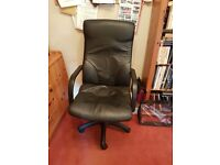 Leather Office Executive Swiveling Chair Black